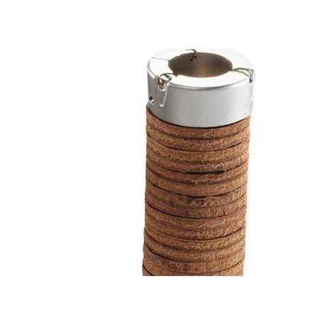 poignées de guidon cuir épais couleur miel