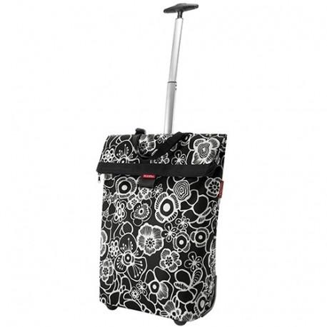 Cabas sacoche laterale Trolley Fleur noir KlickFix K0307FS