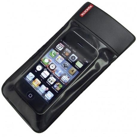 sacoche avec fixation Klickfix pour smartphone sur cintre (modèle S)