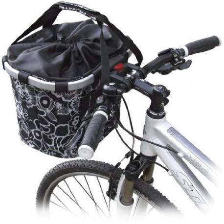 BikeBasket Reisenthel fleurs noir KLICKfix K0303FS