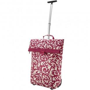 Cabas Trolley sacoche laterale à roulette et poignées KlickFix baroque rubis K0307BR
