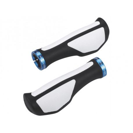Poignées ergonomiques BBB noir & blanc BHG-48M pour guidon vélo et VTT