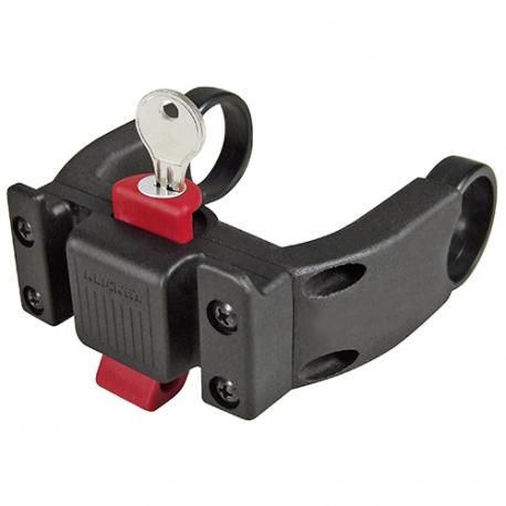 Fixation extra large avec verrou pour panier KLICKFIX sur cintre (guidon) de diamètre Ø 22-26mm équipé écran Bosch K0211EBL