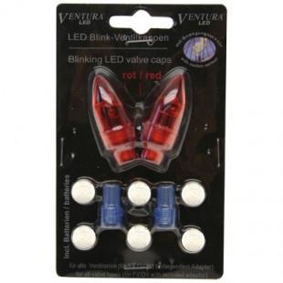 Bouchons de valve lumineux forme obus clignotants rouge avec piles