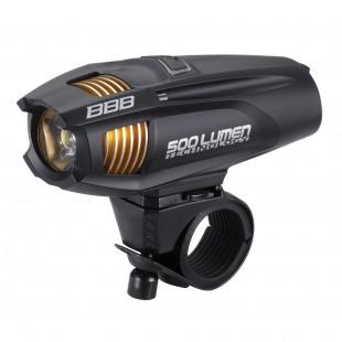 """BBB Eclairage AV """"Strike"""" 500 lumen LED noir/blanc"""