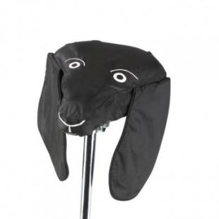 Protection de selle de vélo Tête de chien noir design Georgia In Dublin