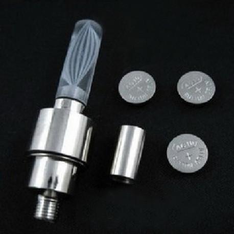 FIREFLYS Bouchons de valve lumineux blanc LED avec piles