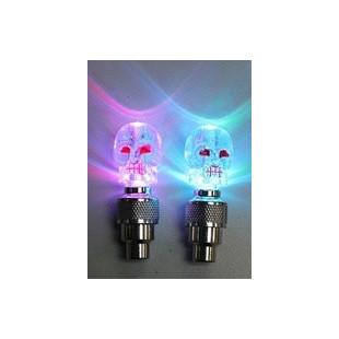 Bouchons de valve lumineux LED tête de mort