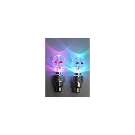FIREFLYS Bouchons de valve lumineux bleu LED avec piles