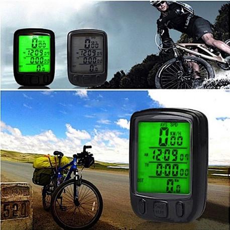 Compteur de vitesse pour vélo avec rétro-eclairage et température
