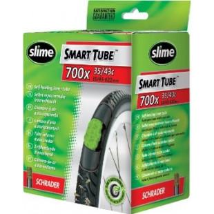 SLIME Smart Tube Chambre à air PRESTA 48mm auto-réparante/anti-crevaison 700 x 28/32c