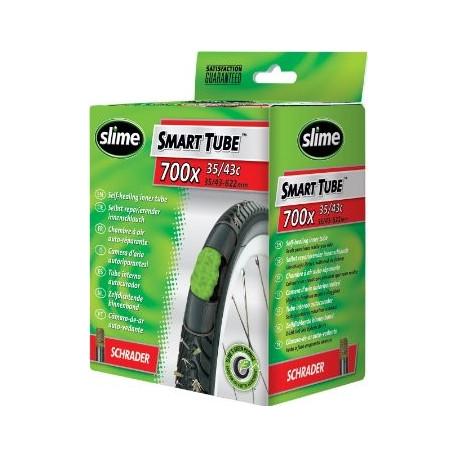 Chambre à air SLIME Smart Tube Schrader auto-réparante/anti-crevaison 26 x 1.75-2.125