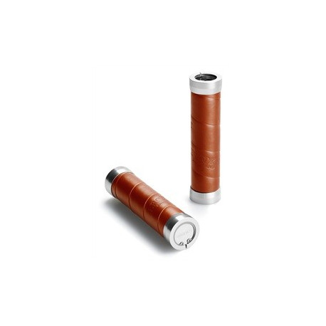 Slender Leather Grips - Antic Brown