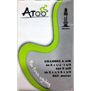 ATOO Chambre à AIR tradi 700 x 32/40C valve Schrader 48mm
