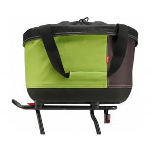 Klickfix Panier shopper tissus porte bagage vélo ALINGO GT pour Racktime K0315GBR