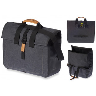Basil sacoche business Urban Dry imperméable charcoal melee 20l