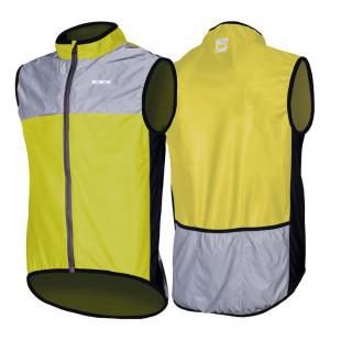 Wowow veste coupe-vent Dark 1.1 jaune/gris réfléchissant
