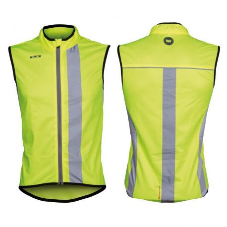 Wowow veste coupe-vent Maverick jaune bandes & zip réfléchissant