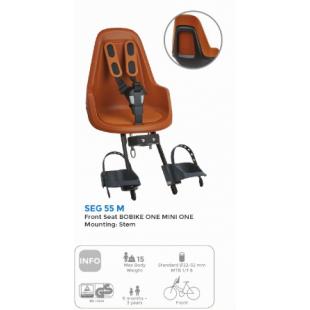 Porte bébé pour vélo BILBY Creme/marron POLISPOR siege enfant