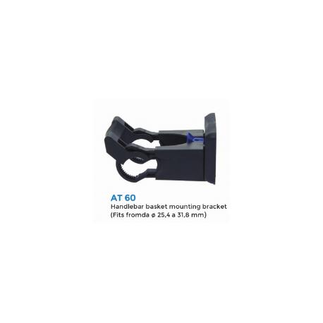Fixation velo pour panier avant universel avec plaque panier AT60