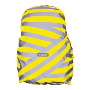 housse pour sac à dos Wowow Berlin jaune, bandes réfléchissantes en argent