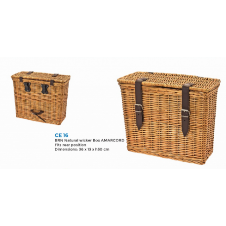SACOCHES BRN CE16 AMARCORD WICKER REAR BOX NATURAL en OSIER