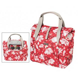BASIL Sacoche Shopping MAGNOLIA poppy rouge pour velo