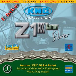 Chaine KMC Z1HX pour moyeux vitesses intégrées