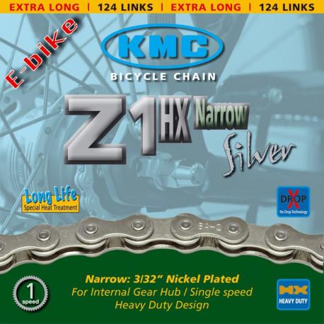 Chaine KMC Z 1HX pour moyeux vitesses intégrées