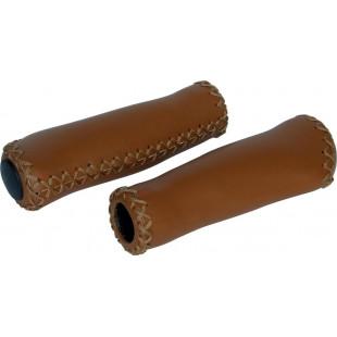 Poignées velo marron Clarks Grip imitation cuir