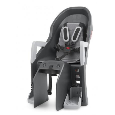siège enfant Polisport Guppy Maxi gris foncé/argent, fixation porte-bagages