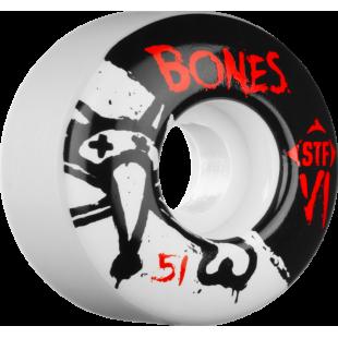 BONES WHEELS (JEU DE 4) STF V1 SERIE SKINNY 51MM