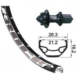 roue ARRIERE 26x1.9 XLC 6 tr.