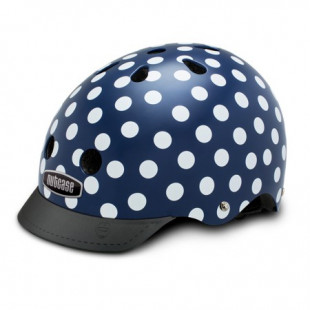 Nutcase Street casque Navy Dots