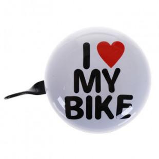 sonnette vélo ding-dong 80mm I love my bike