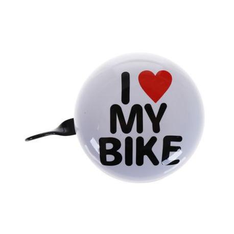 sonnette vélo vintage argentée 50 mm