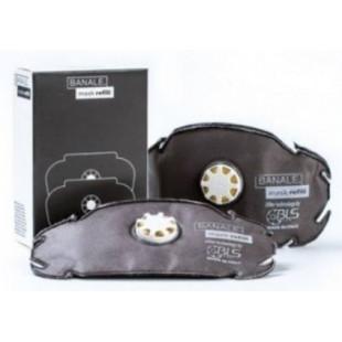 BANALE 2 filtres à charbon actif pour masque anti-pollution
