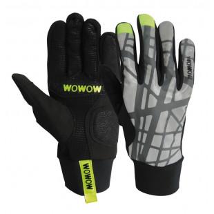 gants NIght-Explorer Fluo Wowow réfléchissant rouge