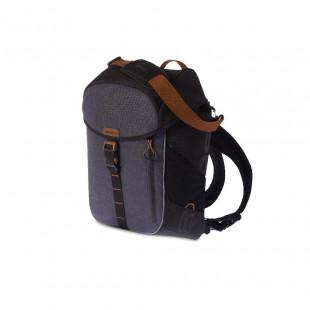 Basil Sac à dos et porte-bagage MILES, 17L, noir ardoise