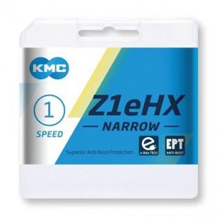 "CHAÎNE KMC Z1EHX NARROW EPT 1/2 X 3/32"", 128 MAILLONS, 7,8MM"