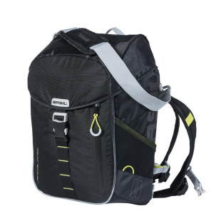 BASIL MILES DAYPACK NORDLICHT,sacoche, sac à dos vélo, 17L, black lime