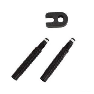 Prolongateur de valve Tubeless Schwalbe alu noir 30mm (x2)