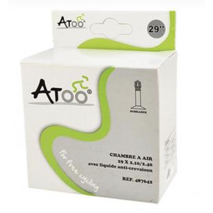 CHAMBRE AIR VTT 29X2.10 / 2.40 VS ATOO AVEC LIQUIDE ANTI-CREVAISON