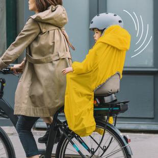RAINETTE - Imperméable Jaune pour siège vélo enfant