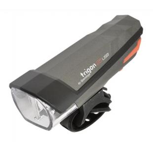 ECLAIRAGE VELO RECHARG.USB AV SPANNINGA LED TRIGON 25 NOIR 3 MODES (FIXATION CINTRE)