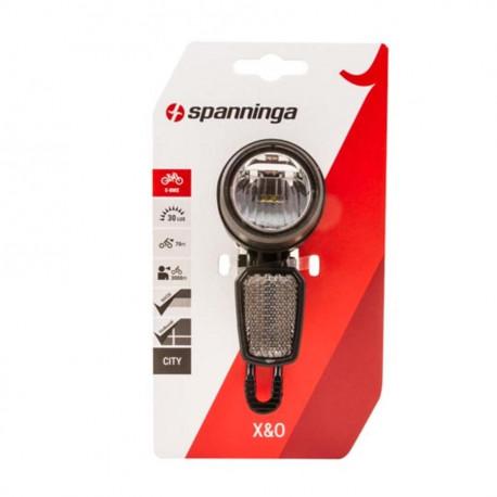 Spanninga X&O 30 - éclairage vélo av / projecteur LED E-bike / Vae 30 6-36 VOLT (FIXATION FOURCHE)