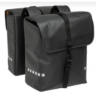 NEWLOOXS SACOCHE VELO PORTE BAGAGE A PONT ODENSE DOUBLE NOIR - 39 LITRES - 340X380X160MM